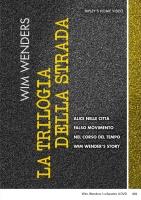Box Wim Wenders - La Trilogia Della Strada (4 Dvd)
