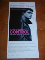 CONTROL locandina origin. prima stampa 33x70 Hollywood