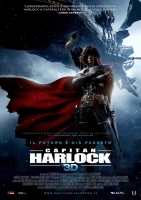Capitan Harlock 3D  - Manifesto 100X140