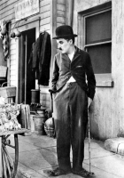 Chaplin C. bastone posa foto poster