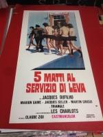 Cinque matti al servizio di leva 1971 locandina cinema 35x70