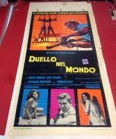 Duello nel Mondo 1966 locandina cinema 35x70