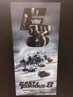 Fast & Furious 8 (2017) locandina originale cm. 33x70