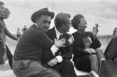 Fellini 8 e mezzo pausa sul set S.Loren foto poster 20x25