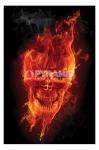 Flaming Skull fantasy Maxi Poster