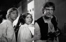 Foto di scena Guerre Stellari Luke, Leia, Han Solo cm. 20x25