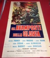 Gli avamposti della gloria 1962 locandina cinema 35x70