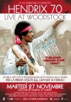 Hendrix 70 Live at Woodstock Manifesto Cinema Originale 100x140
