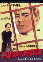 L' Alibi Era Perfetto (1956) DVD Fritz Lang