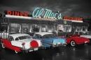 Poster Al Mac's Dinner Auto d'Epoca America Vintage