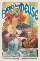 Poster Arte Europea Alphonse Mucha Bieres De La Meuse 1897