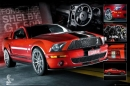 Poster Auto Ford Shelby GT500 Easton Cobra 4 Red Mustang