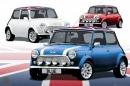 Poster Auto Mini Morris Bandiera Inglese Vintage