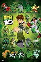 Poster Cartoni Animati Cartoons Ben 10 e Personaggi