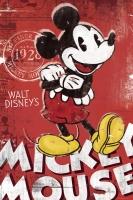 Poster Cartoni Disney Topolino Vintage