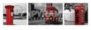 Poster Città Londra Trittico Bianco Nero e Rosso SLIM POSTER