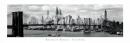 Poster Città New York Ponte di Brooklyn SLIM POSTER