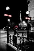 Poster Città Parigi Bacio Tour Eiffel
