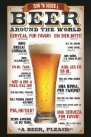 Poster Come Ordinare la Birra Pub Birreria