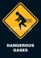 Poster Divertenti Gas Pericolosi Dangerous Gases