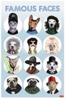 Poster Divertenti Gli Animali dal Muso Famoso