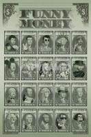 Poster Divertenti Visi Famosi sul Dollaro Funny Money