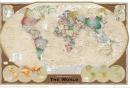 Poster Educativi e Scolastici Cartina Mappa del Mondo Tripla Pro