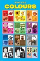 Poster Educativi e Scolastici Impariamo i Colori in Lingua Ingle