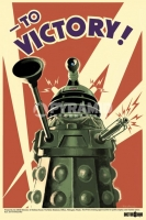 Poster Fantascienza Vintage Serie TV Doctor Who Delek