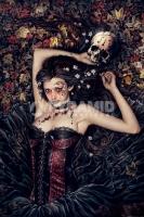 Poster Fantasy Victoria Frances Skull Girl La Ragazza con il Tes
