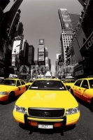 Poster Fotografico New York Taxi Giallo Yellow Cabs