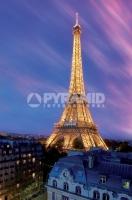 Poster Fotografico Parigi Tour Eiffel al Crepuscolo