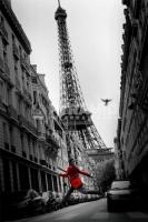 Poster Fotografico Parigi Tour Eiffel ed il Cappotto Rosso