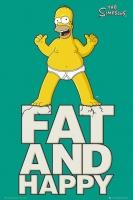 Poster Fumetti Cartoons I Simpson Homer Grasso e Felice