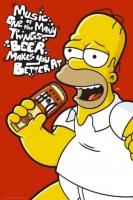 Poster Fumetti Cartoons I Simpson Homer Music Birra