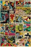 Poster Fumetti Collage Tavole Marvel Vintage