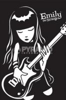 Poster Fumetti Emily The Strange Chitarra