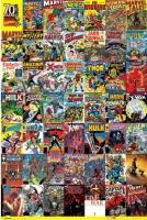 Poster Fumetto Eroi Marvel 70 Anniversario Copertine
