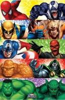Poster Fumetto Eroi Marvel Fantastici 4 Uomo Ragno Venom Wolveri