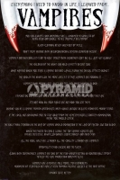 Poster Gli Aforismi dei Vampiri
