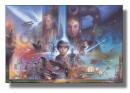 Poster Guerre Stellari Star Wars Collage