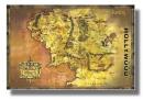 Poster Il Signore degli Anelli Mappa Classica