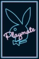 Poster LOGO Coniglio Playboy Neon