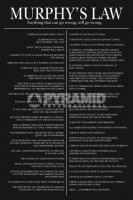 Poster Lifestyle Aforismi e Massime La Legge di Murphy