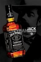 Poster Lifestyle Pub e Birrerie Whisky Jack Daniel's Bottiglia