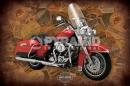 Poster Moto Vintage Harley Davidson Road King