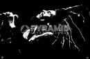 Poster Musica Bob Marley Profilo Bianco e Nero