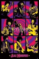 Poster Musica Jimi Hendrix Collage in Viola