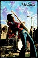 Poster Musica Jimi Hendrix Live Psichedelico