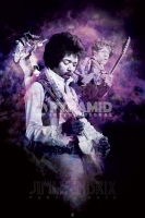Poster Musica Jimi Hendrix Purple Haze Smoke
